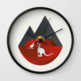 The Australian Outback Wall Clock