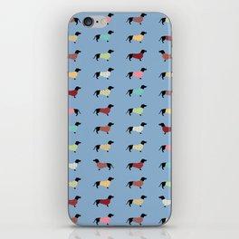 Dachshund - Blue Sweaters #708 iPhone Skin
