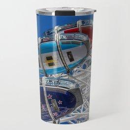 The London Eye and Jet Aircraft Travel Mug