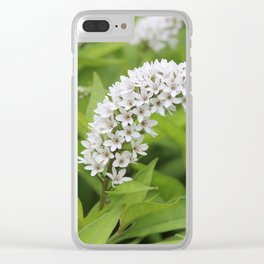 Breezy Flowers Clear iPhone Case