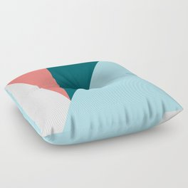 Blue Red Triangles Floor Pillow