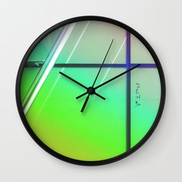 Abstract Wild Urban Wall Clock