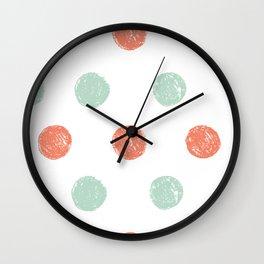 Dot Pattern Wall Clock