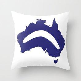 Australia Silhouette With Boomerang Throw Pillow