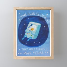 Time adventure Framed Mini Art Print