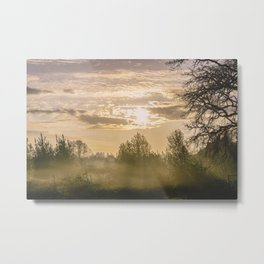 Sunrise in Woodburn Metal Print