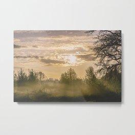 Sunrise in Woodburn Metal Print
