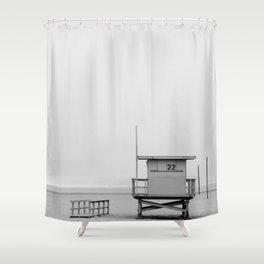 California Lifeguard Cabin Shower Curtain