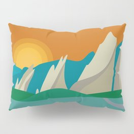 Boulder, Colorado - Skyline Illustration by Loose Petals Pillow Sham