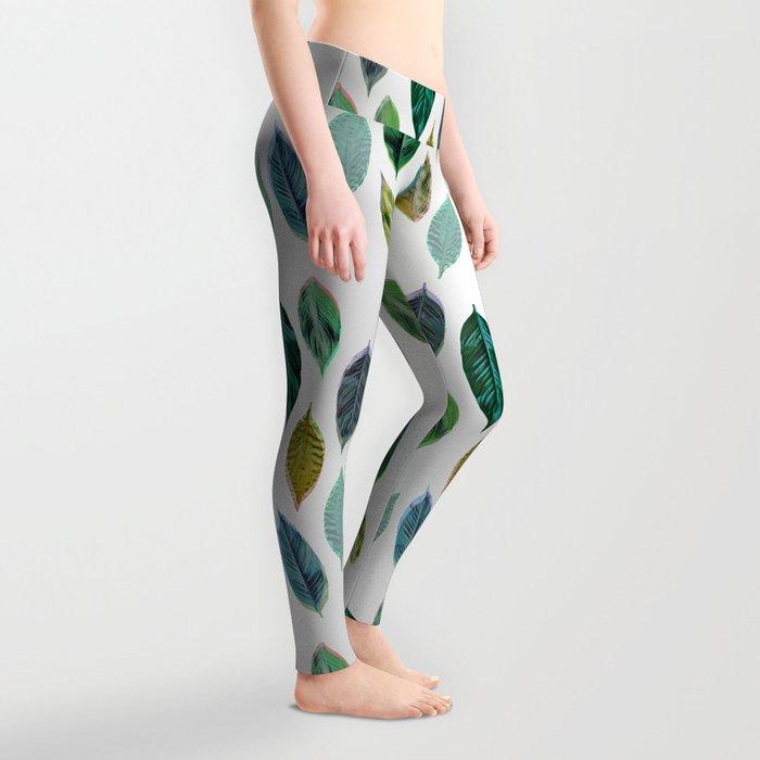 Green Leaves 2 Leggings