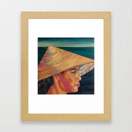 Vietnam Leaf Hat Framed Art Print