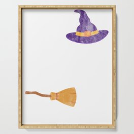 I Can Drive A Stick Witch Holiday Halloween Shirt Serving Tray