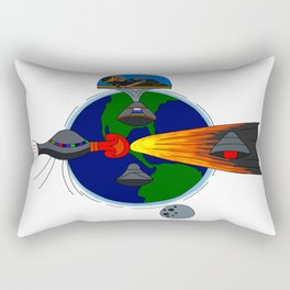 Mayan Astronauts Rectangular Pillow