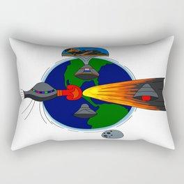 Mayan Astronauts Rectangular Pillow