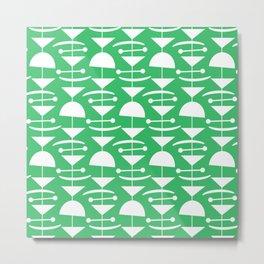 Retro Mid Century Modern Abstract Mobile 665 Green Metal Print