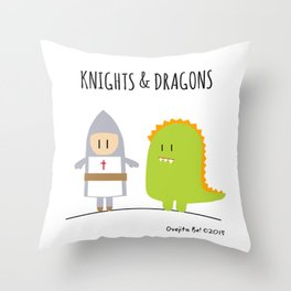 Knights & Dragons Throw Pillow