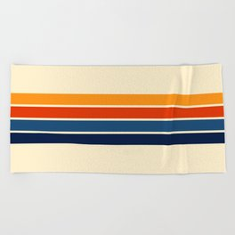 Classic Retro Stripes Beach Towel