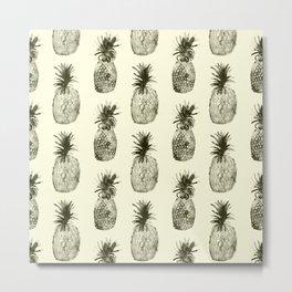 Retro pineapples Metal Print