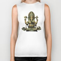 ganesha Biker Tanks featuring Ganesha by Justin Atkins