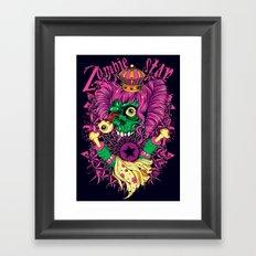 LSD Zombie star Framed Art Print