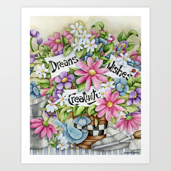Dreams Wishes And Creativity Art Print