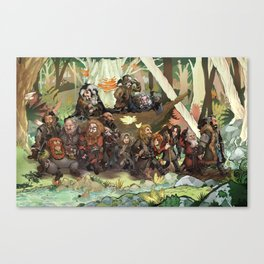 Walking Through the Woods Canvas Print