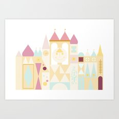 Small World - Pink Variation Art Print