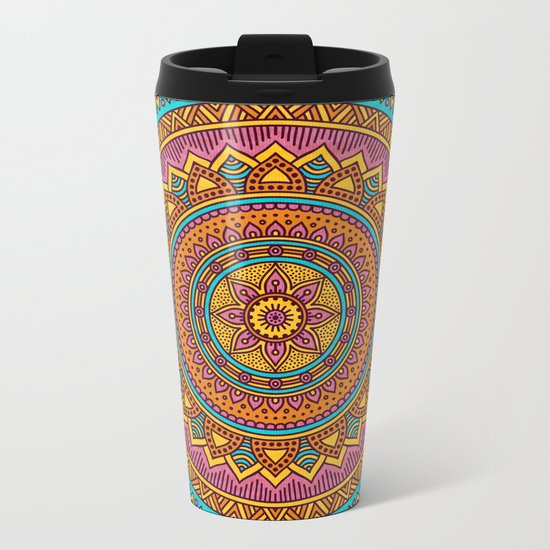 Hippie mandala 63 Metal Travel Mug