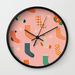 Christmas socks Wall Clock