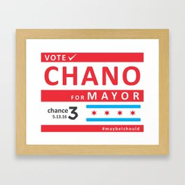 chano4mayor Framed Art Print