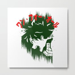 Deku Scream Metal Print