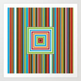 Festive Stripes Art Print