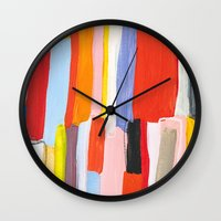 library Wall Clocks featuring Library by Emily Rickard