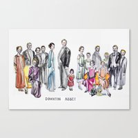 downton abbey Canvas Prints featuring Downton Abbey by Yvette
