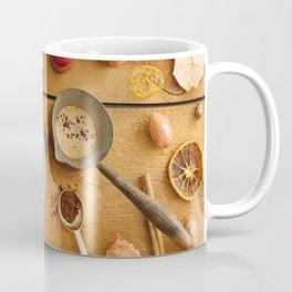 Christmas decoration on wood Coffee Mug