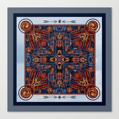Shining Winter Nights Kaleidoscope  Canvas Print