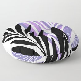 Lavender Olive Branches / Contemporary House Plant Drawing Floor Pillow