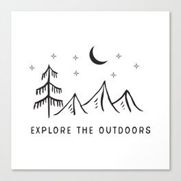 Explore The Outdooors Canvas Print