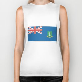 Flag of British Virgin Islands. The slit in the paper with shadows. Biker Tank
