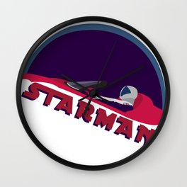 spacex starman to the moon Wall Clock