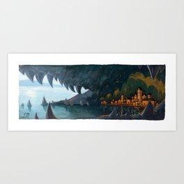 Cruel Waters Art Print