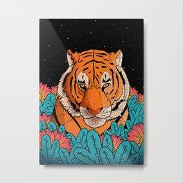 Night time Tiger Metal Print