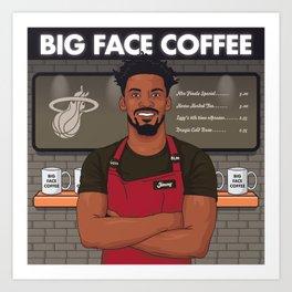 Basketball Bubble Barista Art Print