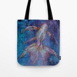 Indigo Goldfish Tote Bag