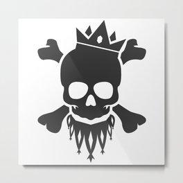 Skull King Metal Print