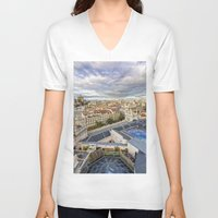 madrid V-neck T-shirts featuring Madrid by Solar Designs