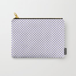 Violet Tulip Polka Dots Carry-All Pouch