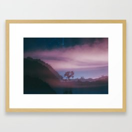 dreamy Joshua Tree at night Framed Art Print