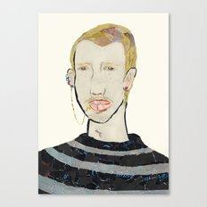 Lip Chain Piercing Canvas Print