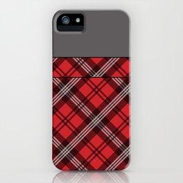 Scottish Plaid (Tartan) - Red iPhone Case